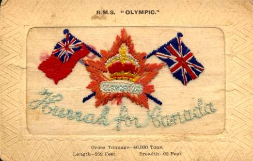 R.M.S. Olympic Canada Embroidered Silk