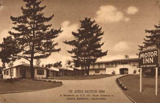 Roadside Advert Motor Inn Santa Barbara CALIFORNIA