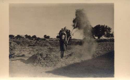 Palestine Israel Farmer Sifting Grains RPPC