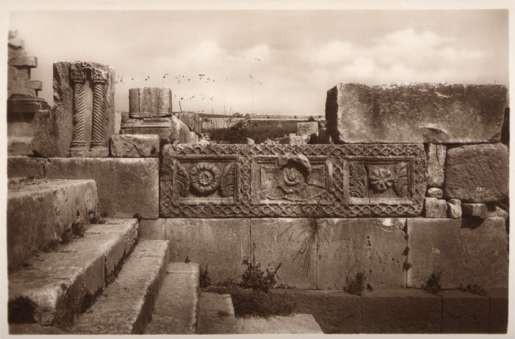 Palestine Synagogue Wall Stones Designs RPPC