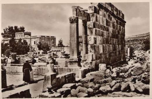 Palestine Synagogue Capharnaum Wall Ruins