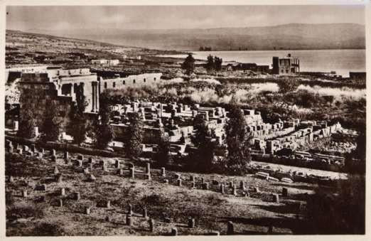 Palestine Synagogue Capharnaum Ruins RPPC