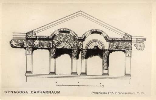 Palestine Synagogue Capharnaum RPPC