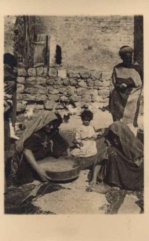 Palestine Israel Grains Sifting Women RPPC