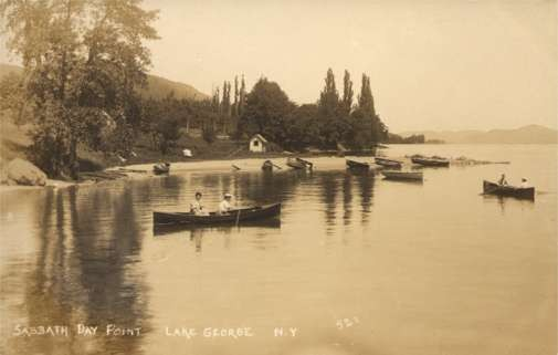 NEW YORK Lake George Sabbath Day Point RPPC