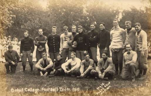 WISCONSIN Beloit College Football Team 1910