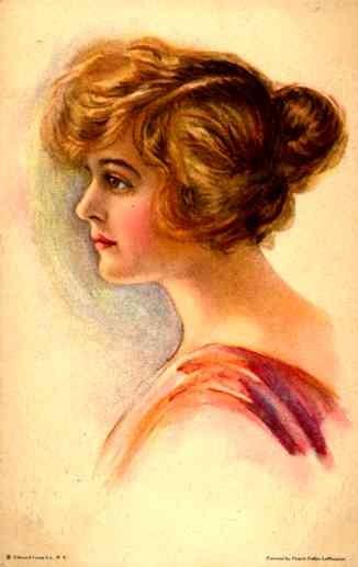 Art Deco Girl Looking Aside