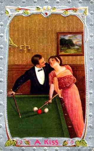 Billiards Lady in Love with Player Sports