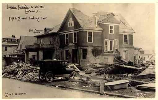 OHIO Lorain Tornado Fifth Street RP
