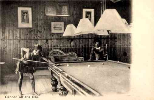 Blacks Playing Billiards Sports