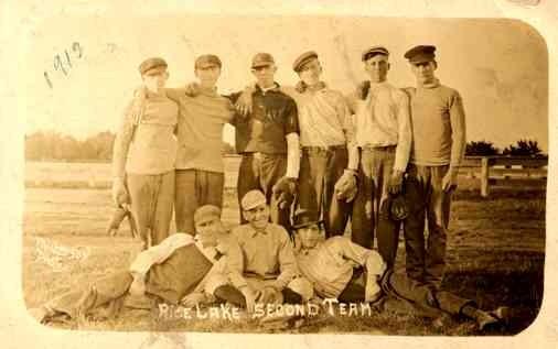 WISCONSIN Rice Lake Baseball Team RP