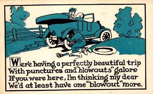 Lady in Auto Poem Comic