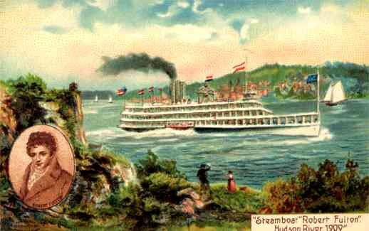 Steamboat Fulton Hudson River 1909