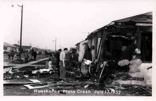 Hawthorne Plane Crash Real Photo