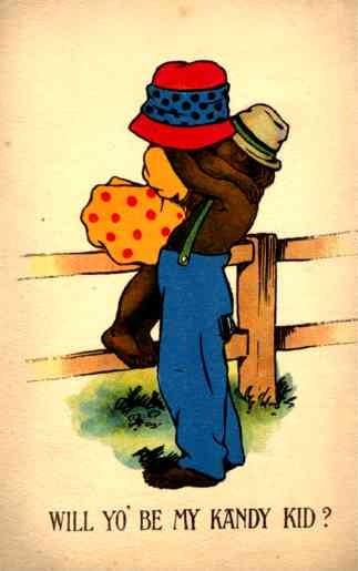 Kissing Valentine Black Americana