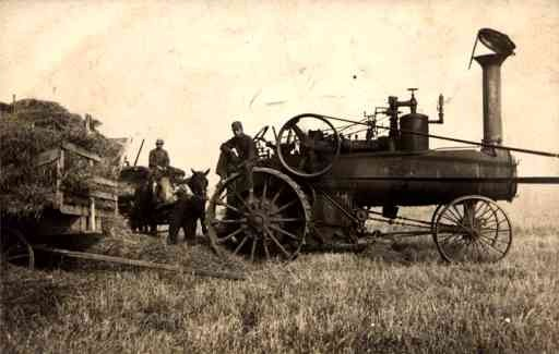 Farmers Steam Engine Tractor Horse RP