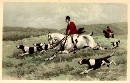 Hunting on the Horses Dogs