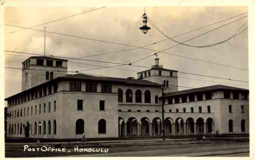 Hawaii Honolulu Post Office RPPC