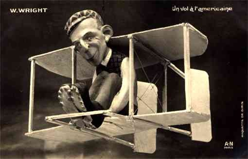 Pilot Wright in the Biplane RP