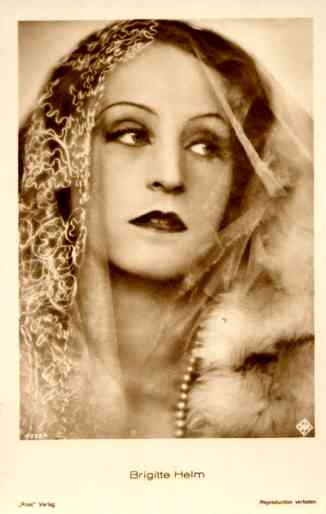 Actress Brigitte Helm in the Shawl RP