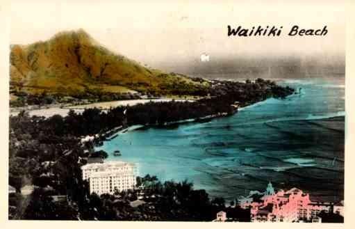 Hawaii Waikiki Beach Real Photo