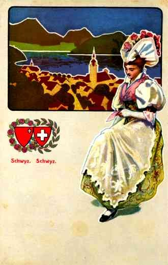 Swiss Girl in National Costume