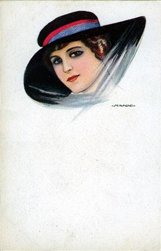 Italian Art Deco Glamour Woman #1