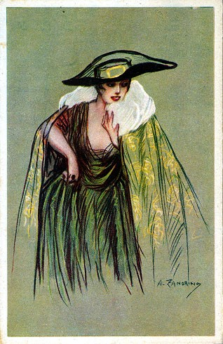 Italian Art Deco Glamour Woman #5