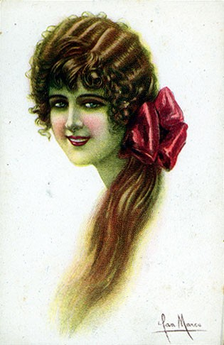 Italian Art Deco Glamour Woman #7