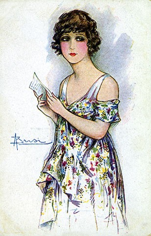 Italian Art Deco Glamour Woman #8