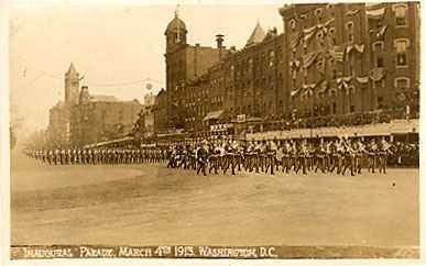 President Wilson Inaugural Parade Real Photo