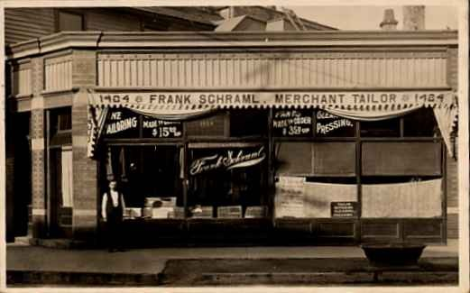 Clothing Tailor Real Photo Storefront