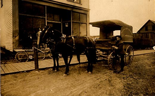 Horse Drawn Grocer Real Photo