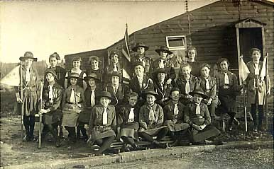 British Girl Scout Troop Real Photo