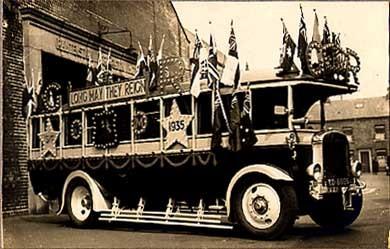 British Royalty Bus Real Photo