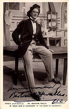 Actor Bertram Wallis Autographed RPPC