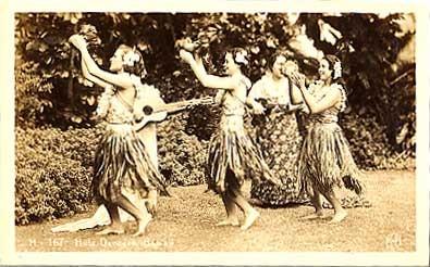 Hawaii Hula Dancers Real Photo #3