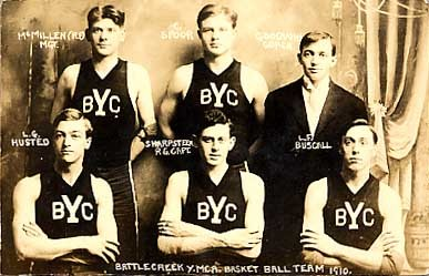 YMCA Basketball Team Real Photo