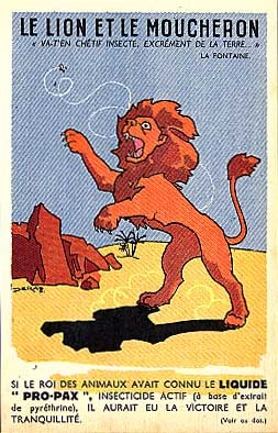 Lion and Mosquito, Insecticide Advert