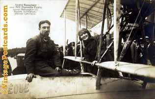 French Aviator with Lady Passenger