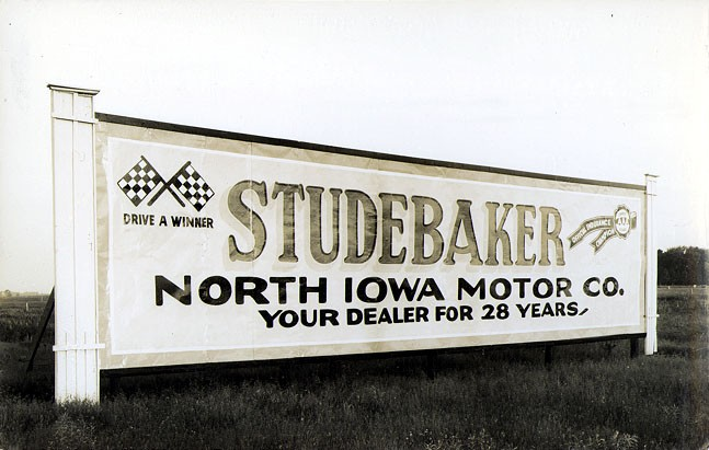 Studebaker Automobiles Advertising Billboard