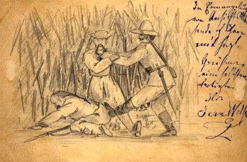 Fighting Chinese Hand-Drawn German Field-Post