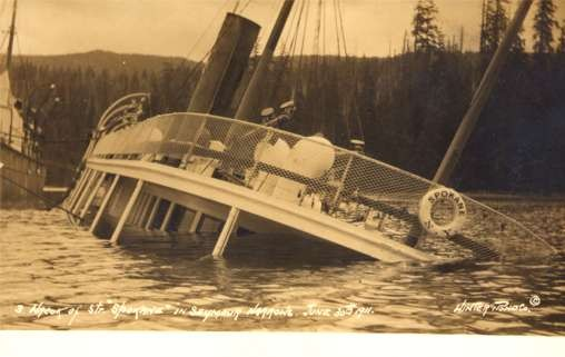 Shipwreck in Narrows Real Photo