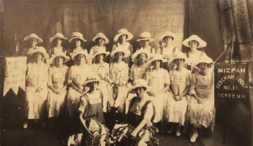New Hampshire Women's Lodge Group Real Photo
