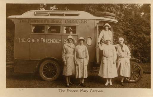 Princess Mary Caravan Truck Real Photo