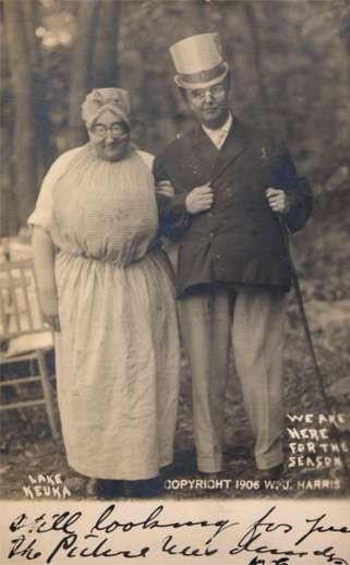 Lake Keuka Cross-Dressed Couple Real Photo