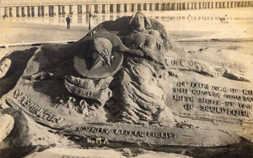 Sand Sculpture Woman With Profile Washington RP