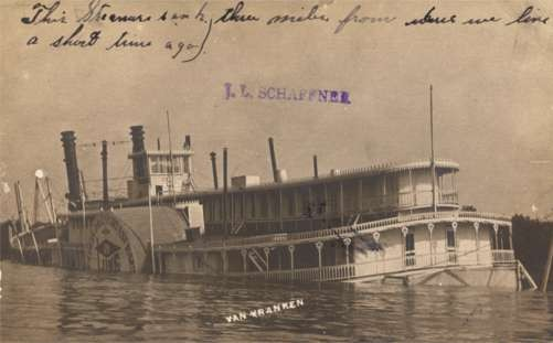 Wrecked Steamboat Real Photo