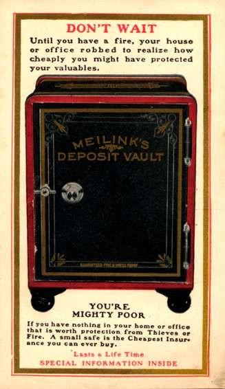 Advert Deposit Vault Novelty