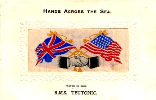 Hands Flags RMS Teutonic